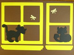 CATS IN THE WINDOW   e-33 scrapbooking cricut diecuts DISNEY premade pages