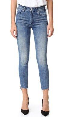 MOTHER Stunner Ankle Fray Jeans | SHOPBOP