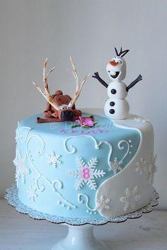 Disney's Frozen Cake - Lydia by dulcerella, via Flickr