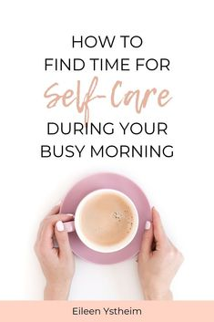 """Need some tips and ideas for squeezing self-care into your busy day? Starting the day with some """"me-time"""" activities and a self-care routine can reduce stress and improve mental health. So check out t Self Care Activities, Time Activities, Take Care Of Yourself, Live For Yourself, Improve Mental Health, Love Tips, Body Love, Self Development, Personal Development"""