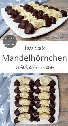 Mandelhörnchen low carb Kekse Rezept Perfekt im Rahmen einer low carb /lchf /keto Ernährung
