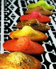 Fauchon- madeleines : miel, pistache, chocolat, orange, framboise, café-sésame, thé Darjeeling. Les nouvelles madeleines de Proust!