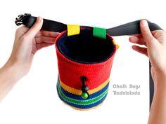 https://www.facebook.com/ChalkBagsNadamlada Climbing Gear Chalk Bag. Climbing Chalk Bag for Rock Climbing. Colorful Crochet Chalkbag #chalkbag #bouldering