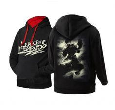 League of Legends mens hoodies Lee Sin black sweatshirts