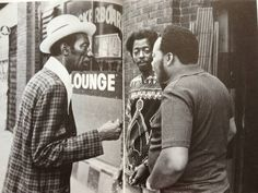 "Hound Dog Taylor, Lefty Dizz and James Cotton - Checkerboard Lounge, Chicago 1974 - Photo from the book ""Blues"" by Robert Neff (who took the photograph) and Anthony Connor"