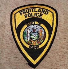 Fruitland Idaho Police Patch