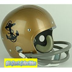 Old Ghost Collectibles - Navy Midshipmen Authentic Throwback Football  Helmet 1960 825a05a77