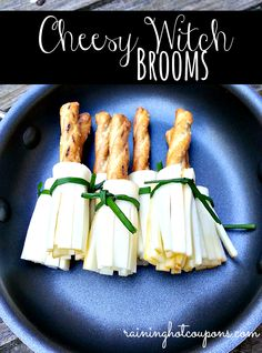 Halloween Cheesy Witch Brooms Recipe