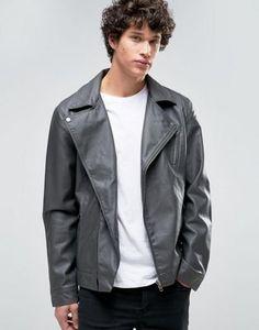 6e6e15ed95 Barneys Faux Leather Biker Jacket Faux Leather Fabric