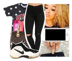 """""""Untitled #749"""" by chynaloggins ❤ liked on Polyvore featuring Case-Mate, L'Oréal Paris, Lancôme, MICHAEL Michael Kors, Moschino and NIKE"""