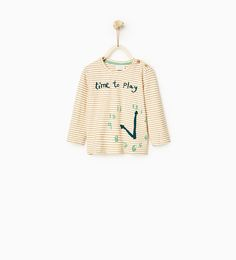 Image 1 of Striped clock T-shirt from Zara
