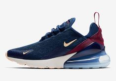 Nike W Air Max 270 Blue Size 8 US Womens Athletic Running Shoes Casual Sneakers Sneakers N Stuff, Casual Sneakers, Casual Shoes, Sneakers Nike, Cute Shoes, Me Too Shoes, Nike Air Max, Air Max 270, Sneaker Brands