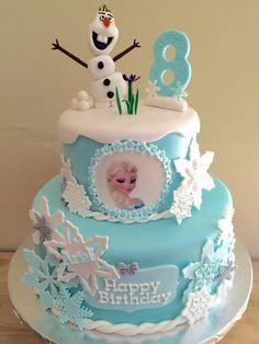 Elsa Birthday Cake, Frozen Themed Birthday Cake, Frozen Theme Party, Barbie Birthday, Themed Birthday Cakes, Themed Cakes, 4th Birthday, Bolo Frozen, Pastel Frozen