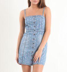 Tinseltown Denim For Lovers Dress  #PacSun #$18.99
