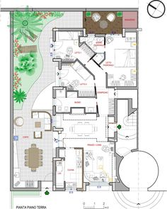 Model House Plan, Dream House Plans, House Floor Plans, Layouts Casa, House Layouts, House Floor Design, Circle House, Hotel Floor Plan, House Map