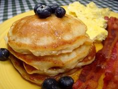 This is a good made from scratch recipe. I also made extras and put them in the freezer for another quick breakfast for my son. This recipe came from Allrecipes, submitted by Andrea. You can put any fruit in your pancakes. Also, when you want to freeze them, make sure they are cool and put them in a freezer bag layered between wax paper. Layer 3 at a time. Then put them into another storage bag. When your ready for a quick pancake fix, just put 3 pancakes on top of each other, on a…