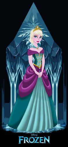 Frozen - Queen Elsa - by ~MissMikopete on deviantART Disney Fan Art, Disney Love, Disney Magic, Disney Frozen, Disney Family, Disney Stuff, Disney Characters, Disney Princesses, Kid Bedrooms