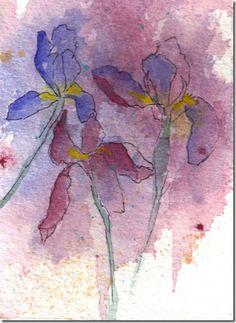 Iris Garden watercolor painting resized_thumb[3].jpg (353×484)