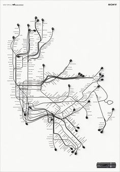 earphones subway map