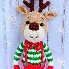 Christmas deer free amigurumi pattern