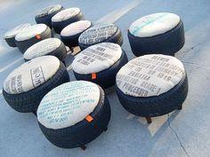 Sgabello Con Gomme : 32 fantastiche immagini su riciclo creativo pneumatici recycle
