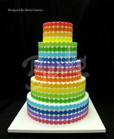 Would be WAY classier with only one coloured row of dots/ribbon on each tier!