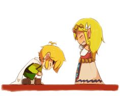 I love that it is so easy to tell that it is Wind Waker Link and Zelda as opposed to any of the other versions of Toon Link
