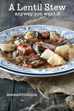 An Easy Lentil Stew Recipe