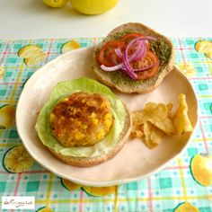The Ultimate Spicy Veggie Burger Packed with Indian Inspiration
