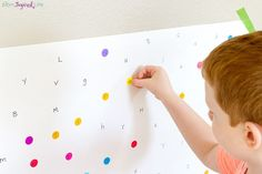 Letter matching I-spy activity that kids LOVE!