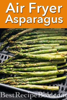Easy asapargus in the air fryer. Time and temperature for air fryer asapargus. It's a 15 minte air fryer asapargus recipe Sauteed Asparagus Recipe, Air Fryer Recipes Asparagus, Oven Roasted Asparagus, Air Fryer Oven Recipes, Air Frier Recipes, Air Fryer Dinner Recipes, How To Cook Asparagus, Grilled Asparagus, Air Fryer Healthy
