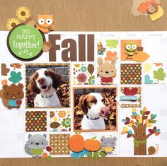 Doodlebug Design Inc Blog: Thankful For Challenge: Fall Calendar Page by Virginia