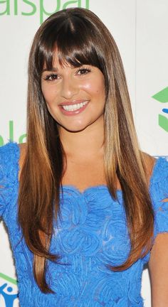 gorgeous hair...2013 obsession is lea michele's hair especially these bangs!