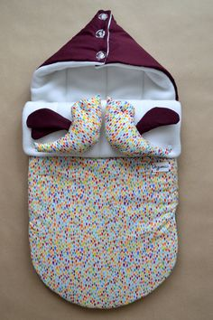 Sleeping bag for newborn (winter), Swaddle Wrap for Babies, SLEEP SACK, Knit Cocoons, bird, winter, wine, grape, vinous, bordo, confetti