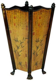Oriental Furniture Unique Group Family Gift Present Idea, 17-Inch Lucky Bamboo Asian Style Cane and Umbrella Stand
