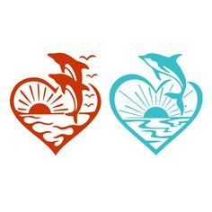 Flying Dolphin Beach Heart Cuttable Designn Cut File. Vector, Clipart, Digital Scrapbooking Download, Available in JPEG, PDF, EPS, DXF and SVG. Works with Cricut, Design Space, Cuts A Lot, Make the Cut!, Inkscape, CorelDraw, Adobe Illustrator, Silhouette Cameo, Brother ScanNCut and other software.