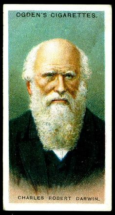 "#15 Charles Robert Darwin (1809-1882) English Naturalist & Author ~ Ogden's Cigarettes, ""Leaders of Men"" (series of 50 issued in 1924) 