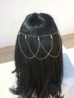 Bridal Headdress, Headchain, Headpiece, Freshwater pearl,Hair chain,Hair jewelry, Hair accessories. This flashy elegant headpiece will make you stunning like a princess!! It gives adorable sexy look with high qualified gold plated over high quality chain and freshwater pearl while flirting around your hair .!! Please indicate your head circumtance while ordering. Silver is available. Be different on wedding , prom , celebration , party and night ! --- ** All items are handmade Feel free…
