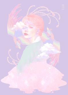 #Hyekang #혜강 #illustration #girl  #digital #art #pink #painting #color #pastel #hanbok #korea #일러스트 #한복 #한복일러스트 #hanbokillust
