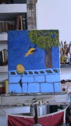 """""""Arrendajo"""". Artista : Carlos Osorio Granado. Oleo / canvas"""
