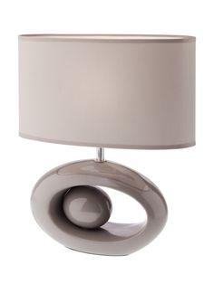 MODI Redo - lampa stolná - šedá keramika+textil - 335mm