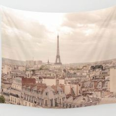 Paris France Eiffel Tower Wall Art Tapestry Perfect for Living Room or Bedroom