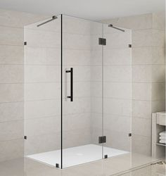 """Aston SEN987-4036-10 Avalux 40"""" Wide x 36"""" Deep x 72"""" High Frameless Hinged Show Oil Rubbed Bronze Showers Shower Enclosures Hinged"""
