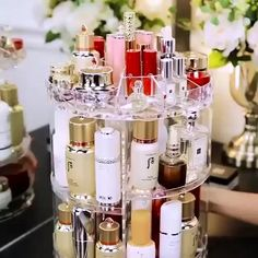 High Quality Rotating Crystal Cosmetic Storage Box – Diy Gifts For Friends