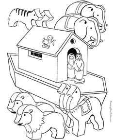 free printable noah's ark, bible coloring pages | kids bible study ... - Noahs Ark Coloring Pages Print