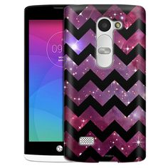LG Leon Chevron Nebula Black Slim Case