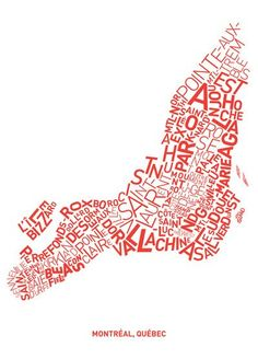 #Montreal typographical map on society6 by poncikm http://society6.com/poncikm/all-types-in-montreal-white-background_print#1=45