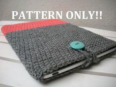 PDF PATTERN Crochet iPad Cover iPad Sleeve Case DIY by LanadeAna
