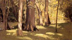, huile sur panneau de Gustave Caillebotte (1848-1894, France)
