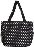 World Traveler Black and White Polka Dots 18-inch Travel Tote Bag